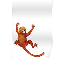 Clingy Monkey Poster