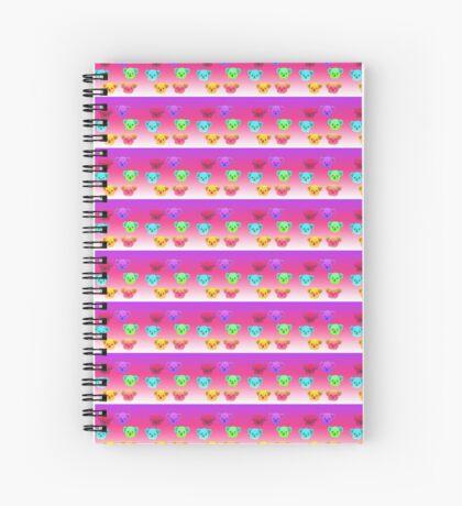 Winter Koalas - Pink/Purple Spiral Notebook