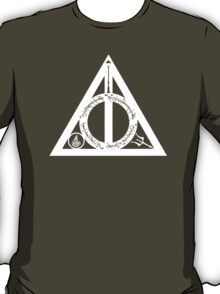 Bookly Hallows - White T-Shirt