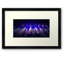 Coloured stage lights and smoke as a vivid colour background Framed Print