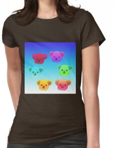 Winter Koalas - Light Blue Womens Fitted T-Shirt