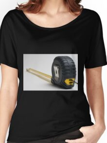 a yellow measuring tape on white background Women's Relaxed Fit T-Shirt