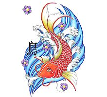 Japanese Koi Carp fish Photographic Print