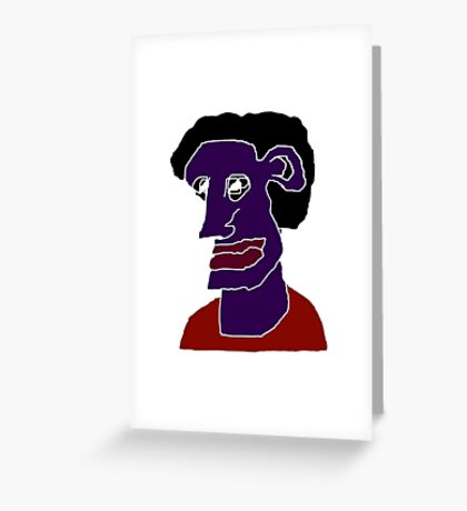 Man Portrait Caricature Greeting Card