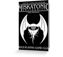 Miskatonic RPG Club Greeting Card