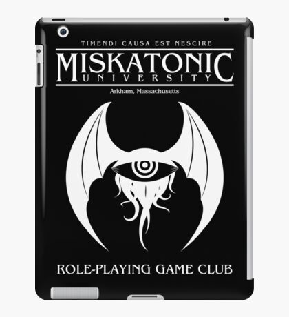 Miskatonic RPG Club iPad Case/Skin