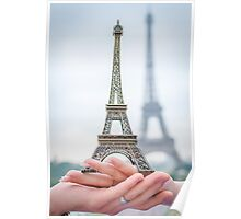 ring and eiffel tower Poster