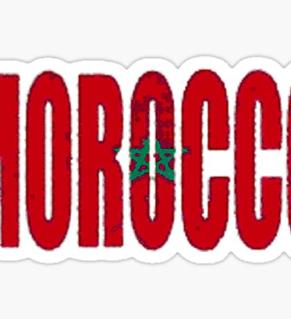 Morocco Font with Moroccan Flag Sticker