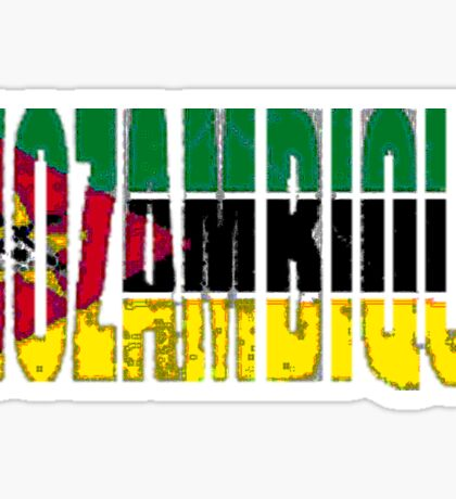 Mozambique Font with Flag Sticker