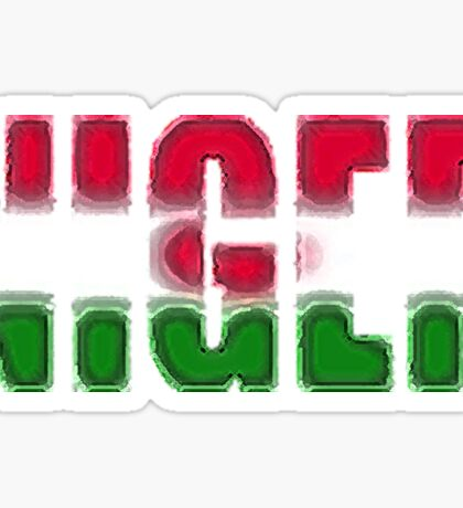 Niger Font with Flag Sticker