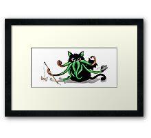 Cthulhu Kitten Framed Print