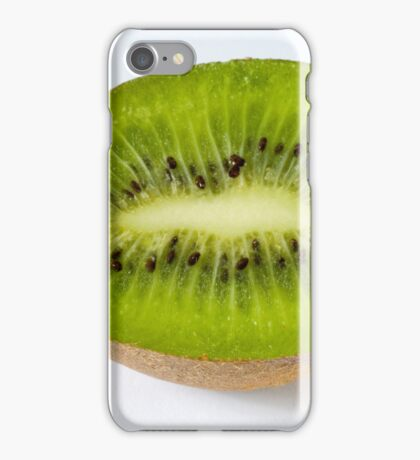 Kiwi on white background iPhone Case/Skin