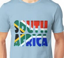 South Africa Font with South African Flag Unisex T-Shirt