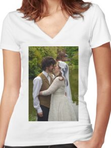 Wedding Women's Fitted V-Neck T-Shirt