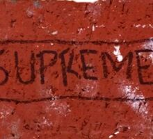Supreme Brick Sticker