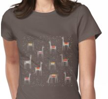 Llamas in the Meadow Womens Fitted T-Shirt