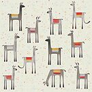 Llamas in the Meadow by Nic Squirrell