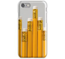 6 yellow pencils of different lengths iPhone Case/Skin