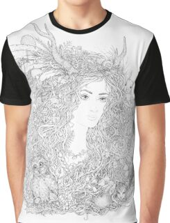 Forest Beauty. A Fairy Tale Graphic T-Shirt
