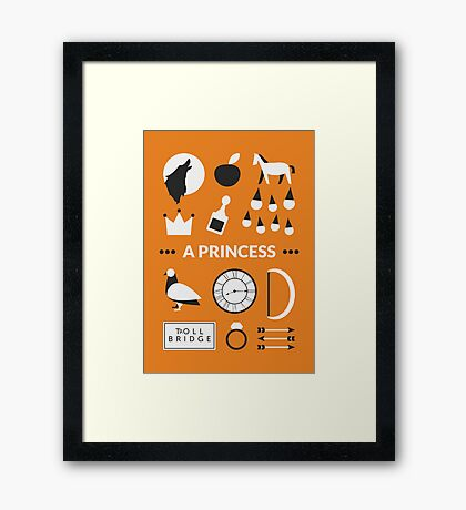Once Upon A Time - A Princess Framed Print