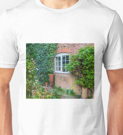 Peering through the glass window Unisex T-Shirt