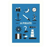 Once Upon A Time - A Pirate Art Print