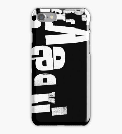 Weiß auf Schwarz - Collage iPhone Case/Skin