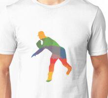 Farbiger Baseballer Unisex T-Shirt