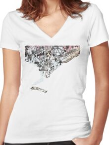 What Music Does To Me Women's Fitted V-Neck T-Shirt