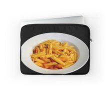 A serving of Penne pasta with tomato sauce  Laptop Sleeve