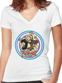 Freak Brothers! Women's Fitted V-Neck T-Shirt