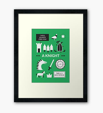 Once Upon A Time - A Knight Framed Print