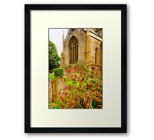Holy Trinity Church With Flowers & Gravestones Framed Print