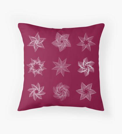 Stars frame models Throw Pillow