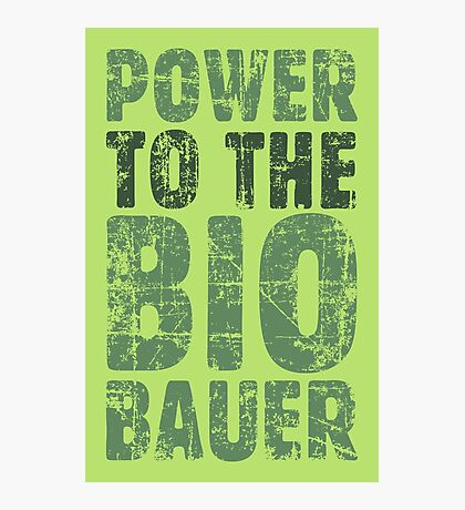 Power to the Biobauer (Vintage/Grün) Photographic Print
