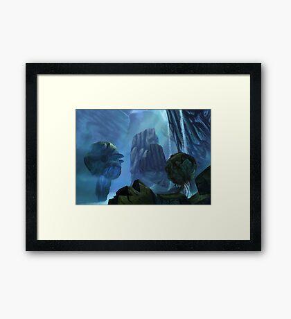 Floating Mountains Framed Print