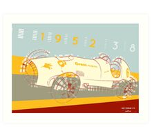 Indy Ferrari 375 - Vintage Poster Art Print
