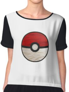 Pokeball vs Pokemon Chiffon Top