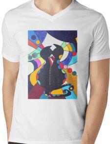 Zip-Kätz Mens V-Neck T-Shirt