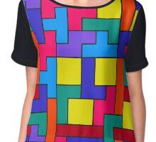 Tetris Blocks Pattern Chiffon Top