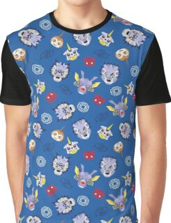 Digital Friendship Pattern Graphic T-Shirt