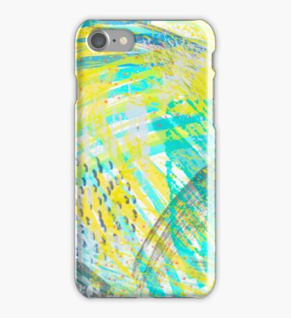 Abstract yellow green pattern iPhone Case/Skin
