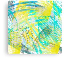 Abstract yellow green pattern Canvas Print