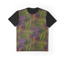 Abstract Colors Of Purple Green Yellow Graphic T-Shirt