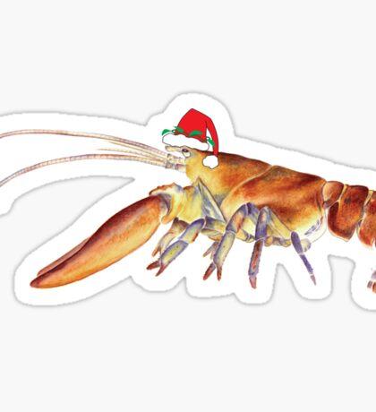 Lobster Santa Sticker