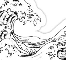 """The Great Wave off Kanagawa"" Sticker"