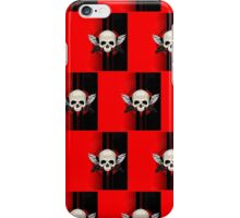 Wing Skull - RED (Pattern )2 iPhone Case/Skin