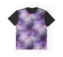 Blue Purple And White Abstract Colors Graphic T-Shirt