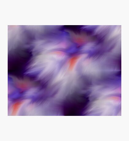 Blue Purple And White Abstract Colors Photographic Print