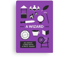 Once Upon A Time - A Wizard Canvas Print